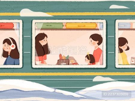 鼠年春节乘绿皮火车回家过年