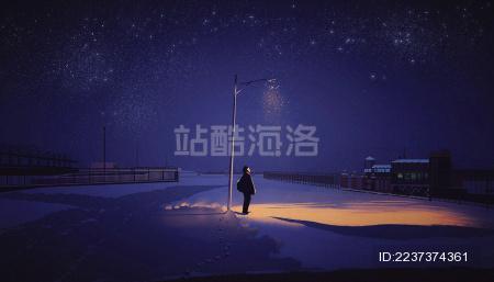 冬季夜雪的思念