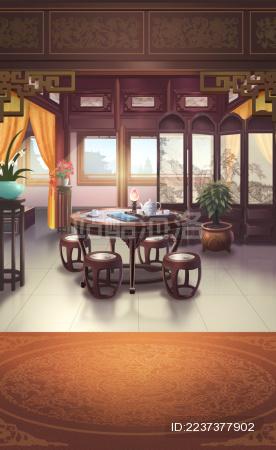 中国风古代大厅插图