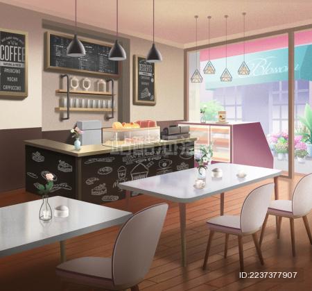 温馨甜品咖啡店插图