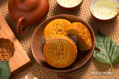 中式传统中秋月饼