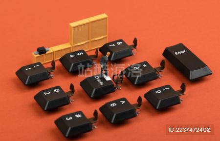 办公室键盘桌椅网络办公