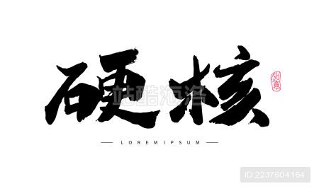 中国汉字 硬核 手写书法字体