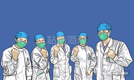 医护人员一起加油
