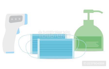 医疗用品、口罩、体温计、消毒液