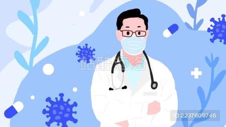 戴口罩的医生