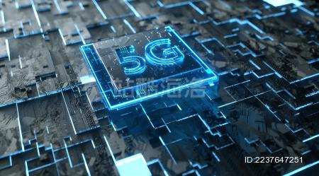 抽象发光的5g科技芯片