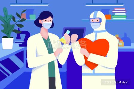 医护人员携手研发抗击病毒