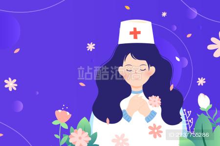 医疗护士矢量插画