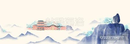古风宫殿远景图