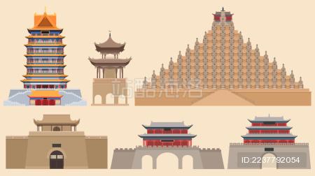 吴忠旅游地标古建筑