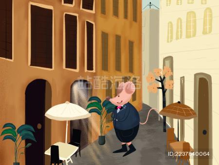 街道上的老鼠