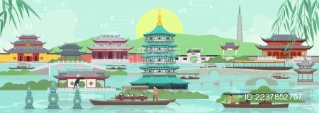 清明时节雨纷纷 雨中游杭州西湖