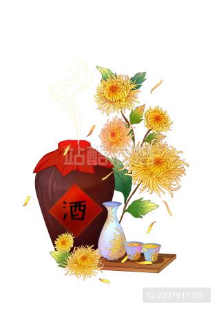秋天菊酿酒