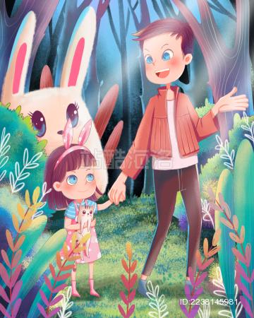 儿童节父女森林之旅