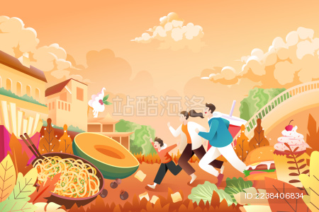 美食活动矢量插画