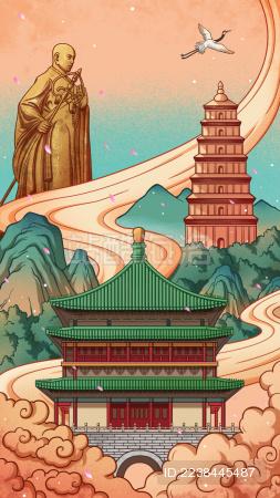 西安城市宣传海报