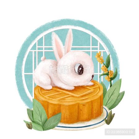 在月饼上的玉兔