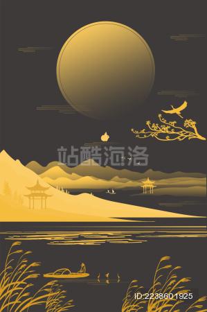 中秋节中国传统节日插画