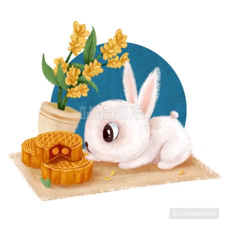 吃月饼的玉兔