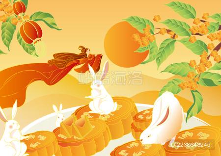 中秋节活动海报矢量图