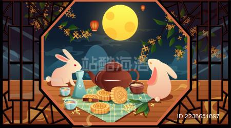 中秋节节日海报