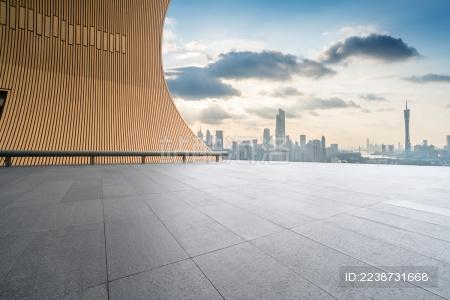 广州珠江新城天际线道路公路