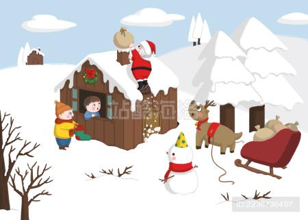 圣诞节和朋友们
