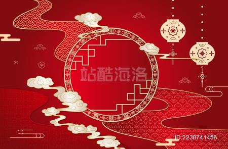 中国风传统纹样底纹