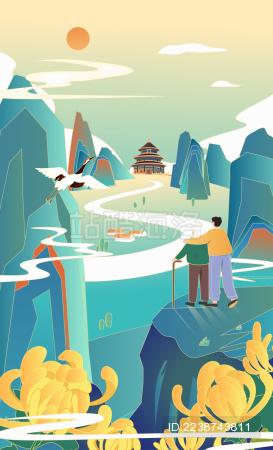 中国风重阳插画