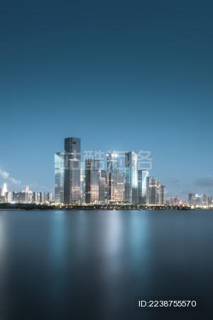 中国深圳前海自贸区夜景