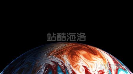 3D渲染抽象流光球体海报背景