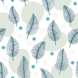 热带叶无缝模式矢量插图